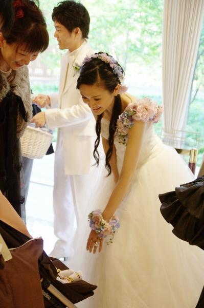 東郷記念館での結婚式、ウェディングドレスベルライン