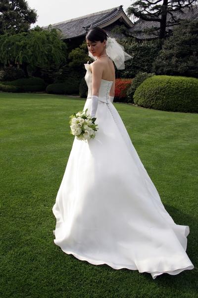 明治記念館での結婚式、ウェディングドレス