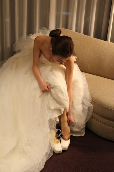 ホテルニューオータニでの結婚式のウェディングドレス